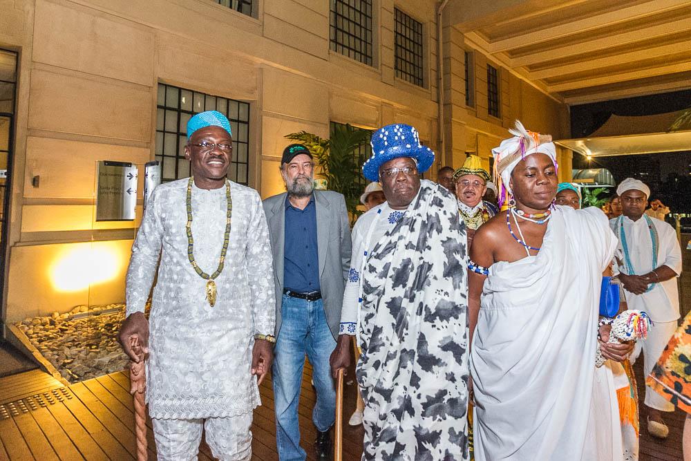 Chefes de povos tradicionais do Benim visitam o Estação Cultura para participar do lançamento da 1ª Bienal Afro-Brasileira do Livro (BienAfro)