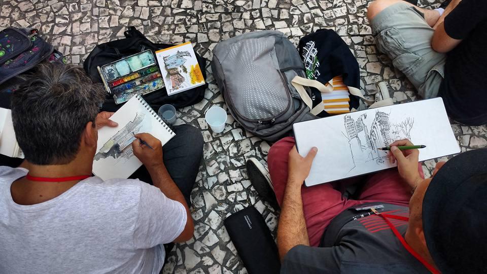 Foto: Encontro Urban Sketchers Brasil 2017 São Paulo