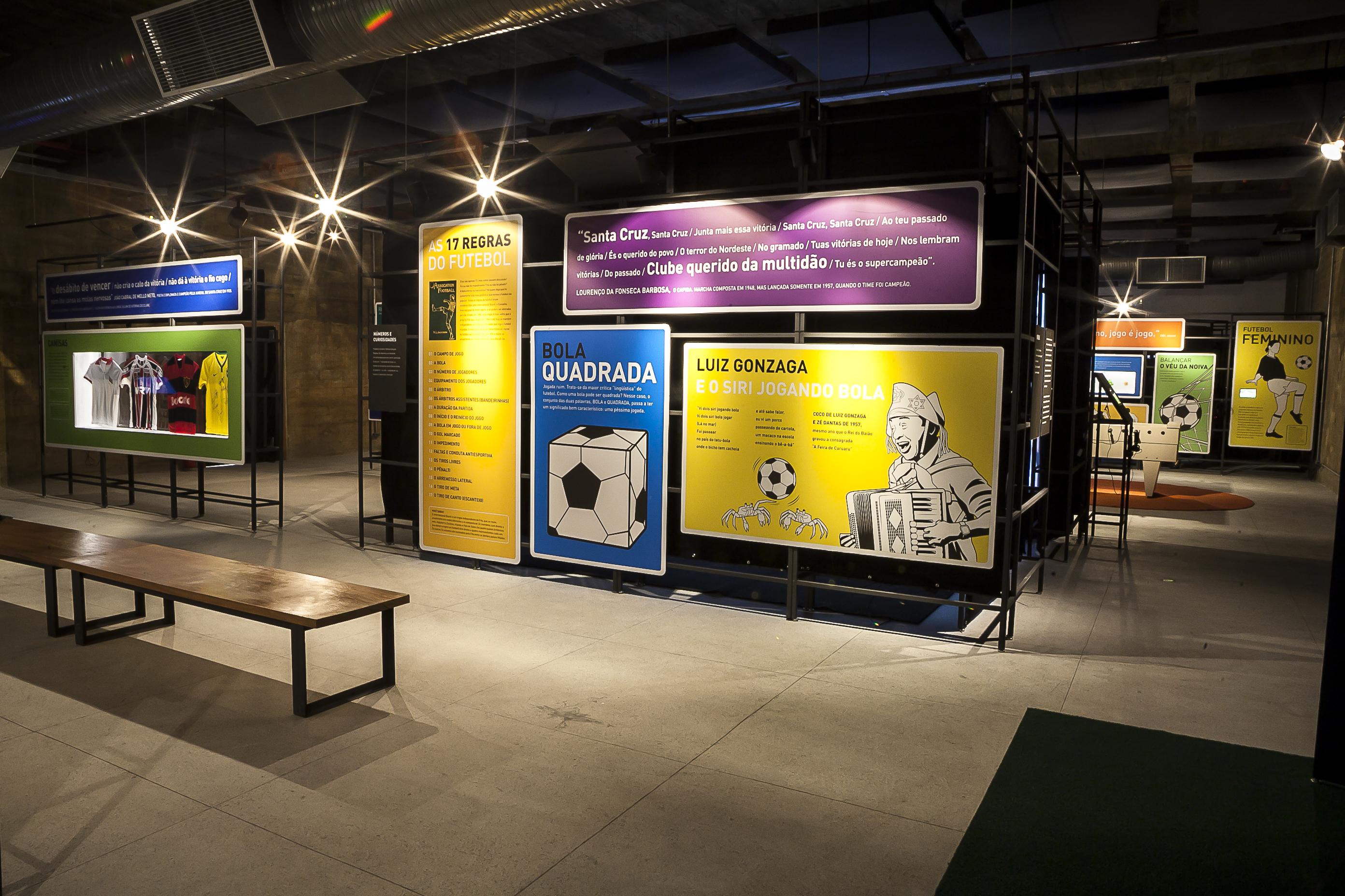 6279f6ebeeb Museu do Futebol na Área em Recife - Foto  Tom Cabral   Secretaria da  Cultura