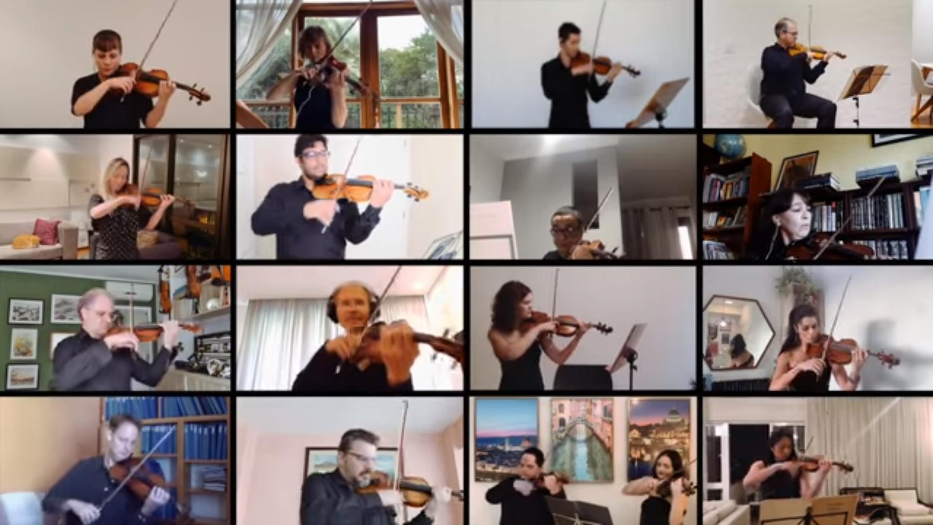 Orquestra Sinfônica do Estado de SP reúne músicos em vídeo com apresentação de obra de Villa-Lobos