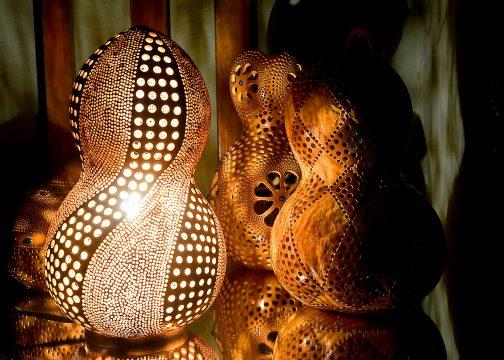 Luminária produzida pelo Washington, da Aurora Coutn